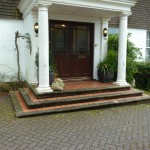 Original tiled steps at private house