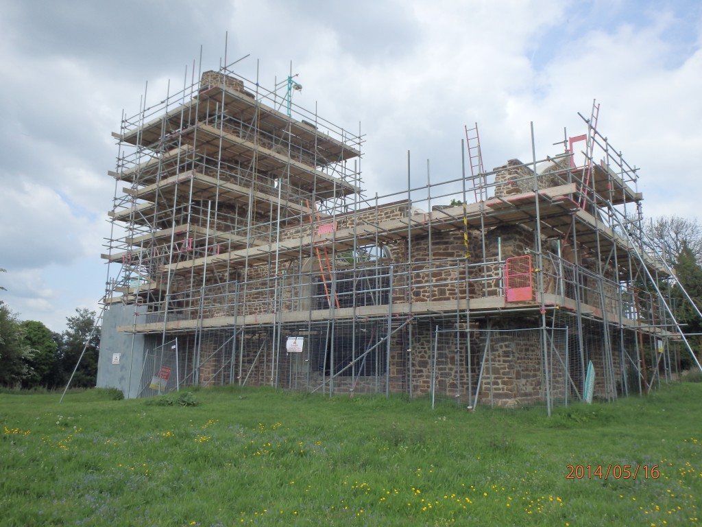 Work in Progress at Clophill Church, an historic ruin based in Bedfordshire