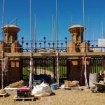Main gates Knebworth House restoration